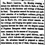 newsclipping from 1855