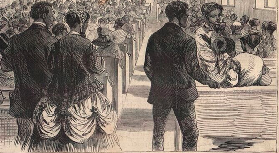 Detail from Theo David Sketch of 1869 Washington DC Convention