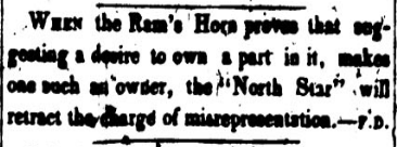 A news clipping from the North Star.