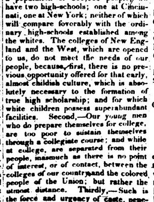 scan of a print newspaper clipping published 1848