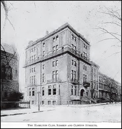 A photograph of the boarding home that Elizabeth and James Gloucester owned in 1878.