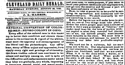 Print newspaper clipping from 1843
