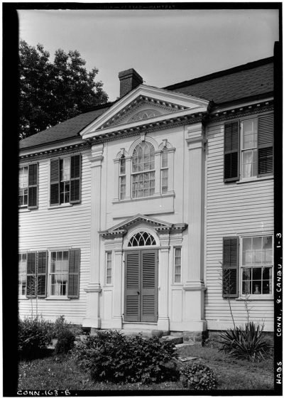 black and white photograph of the exterior of the Prudence Crandall School for Negro Girls (1833)