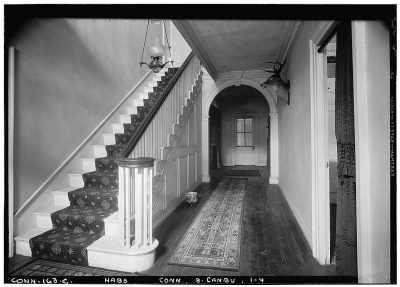 black and white photograph of the interior of the Prudence Crandall School for Negro Girls (1833)