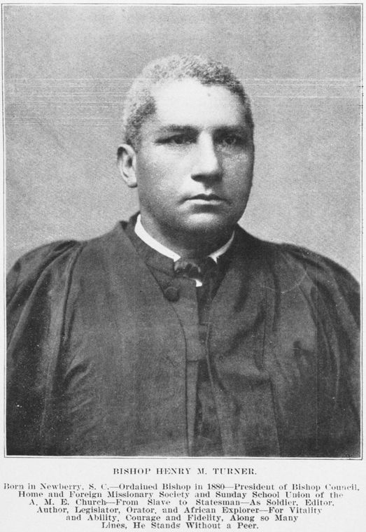 Black and white image of Bishop Turner