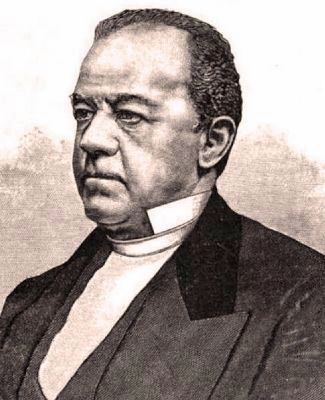 Black and white portrait of Rev. Leonard A. Grimes
