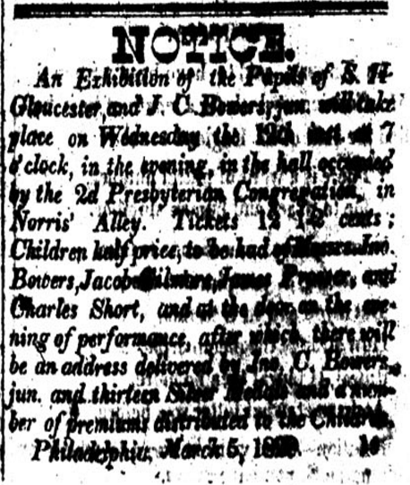 Newspaper clipping, a notice.