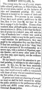 Newspaper clipping from 1833.